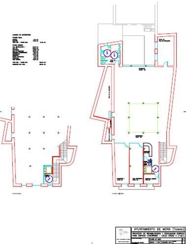 Planos distribución de espacios