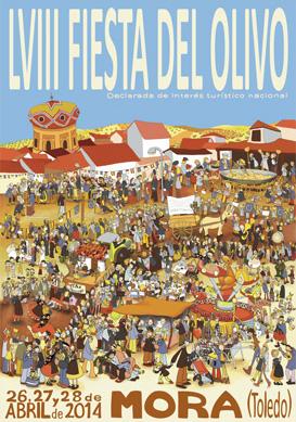 Portada del Programa de mano de la LVIII Fiesta del Olivo