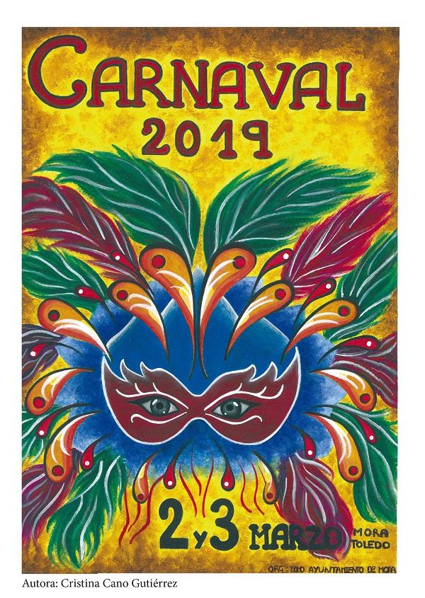 Carnaval 2019 - Portada Programa de Mano obra de Cristina Cano Gutiérrez